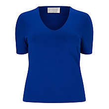 Buy Windsmoor Basic Jersey Top, Bright Blue Online at johnlewis.com