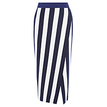 Buy Karen Millen Striped Jersey Skirt, Blue/Multi Online at johnlewis.com