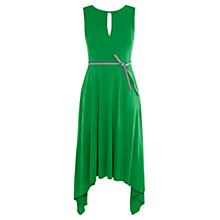 Buy Karen Millen Draped Soft Dress, Green Online at johnlewis.com