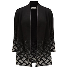 Buy Windsmoor Short Patterned Cardigan, Dark Grey Online at johnlewis.com