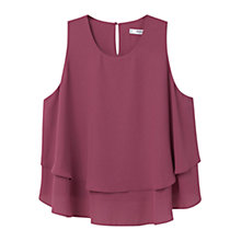 Buy Mango Double Layer Top Online at johnlewis.com