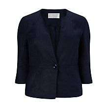 Buy Windsmoor Linen Jacket, Navy Online at johnlewis.com