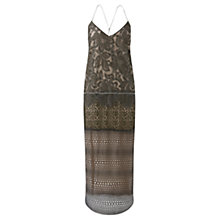 Buy Jigsaw Lace Slip Dress, Moss Online at johnlewis.com