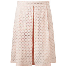 Buy Miss Selfridge Petite Midi Skirt, Powder Blush Online at johnlewis.com