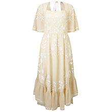 Buy Miss Selfridge Fluted Sleeve Dress, Almond Online at johnlewis.com
