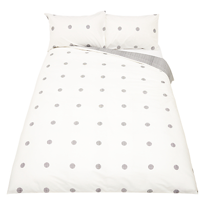 House by John Lewis Orb Duvet Cover and Pillowcase Set, Black/White