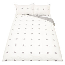 Buy House by John Lewis Orb Duvet Cover and Pillowcase Set, Black/White Online at johnlewis.com