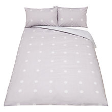Buy House by John Lewis Orb Duvet Cover and Pillowcase Set, Grey/White Online at johnlewis.com
