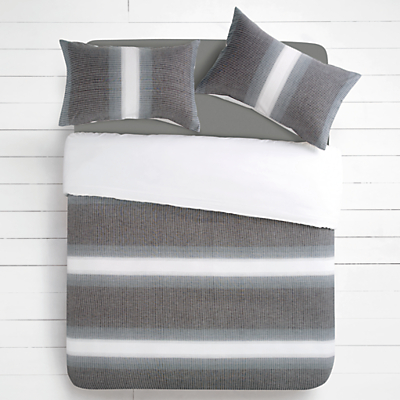House by John Lewis Woven Stripe Duvet Cover and Pillowcase Set