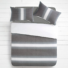 Buy House by John Lewis Woven Stripe Duvet Cover and Pillowcase Set Online at johnlewis.com