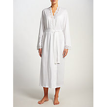 Buy John Lewis Classic Lace Trim Robe, White Online at johnlewis.com
