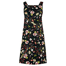 Buy Warehouse Printed Pinny Dress, Black Online at johnlewis.com