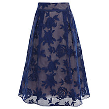 Buy Coast Trellis Lace Skirt, Blue Online at johnlewis.com