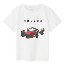 Buy Mango Kids Boys' Image Print T-Shirt, White Online at johnlewis.com
