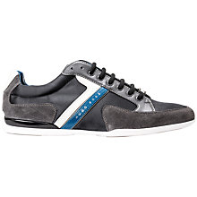 Buy HUGO BOSS Spacit Suede Trainers, Charcoal Online at johnlewis.com