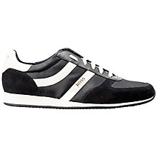 Buy HUGO BOSS Orlando Trainers, Black Online at johnlewis.com