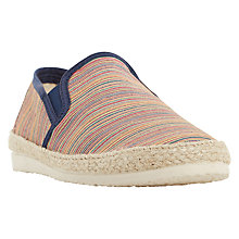 Buy Dune Fraser Island Textile Slip-On, Multi Online at johnlewis.com