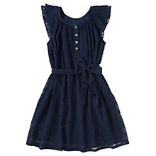 Buy Jigsaw Girls' Chiffon Cross Stitch Dress, Navy Online at johnlewis.com