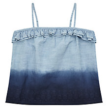 Buy Jigsaw Girls' Dip Dye Top, Blue Online at johnlewis.com