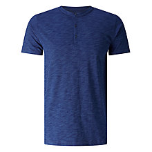 Buy JOHN LEWIS & Co. Henley Collar T-Shirt, Indigo Online at johnlewis.com