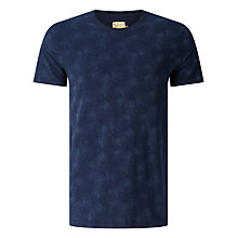 Buy JOHN LEWIS & Co. Lilypad Laser Printed T-Shirt, Navy Online at johnlewis.com