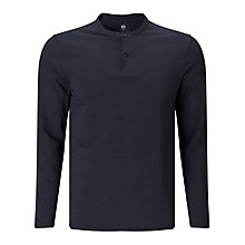 Buy Kin By John Lewis Mandarin Collar Long Sleeve Top, Navy Online at johnlewis.com