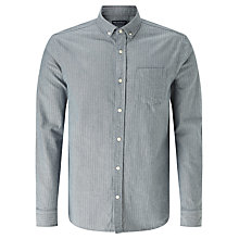 Buy JOHN LEWIS & Co. Herringbone Shirt, Blue Online at johnlewis.com