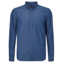 Buy John Lewis Denim Cotton Shirt, Indigo Online at johnlewis.com