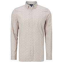 Buy John Lewis Feather Print Shirt, Stone Online at johnlewis.com