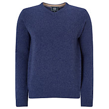 Buy John Lewis Made in Italy Merino Cashmere V-Neck Jumper, Cobalt Blue Online at johnlewis.com