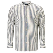 Buy JOHN LEWIS & Co. Vintage Stripe Grandad Shirt, Navy Online at johnlewis.com
