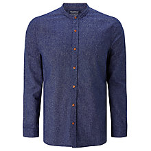 Buy JOHN LEWIS & Co. Mouline Grandad Shirt, Denim Online at johnlewis.com