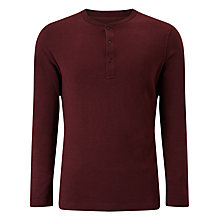 Buy JOHN LEWIS & Co. Long Sleeve Grandad Top, Oxblood Online at johnlewis.com