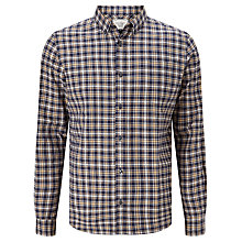 Buy John Lewis Check Twill Shirt, Navy/Yellow Online at johnlewis.com