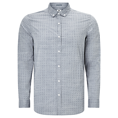 Image of Kin by John Lewis Dobby Chambray Shirt, Blue