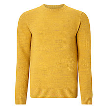 Buy JOHN LEWIS & Co. Moss Stitch Crew Neck Jumper, Gold Online at johnlewis.com