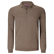 Buy John Lewis Made in Italy Merino Long Sleeve Polo Shirt Online at johnlewis.com