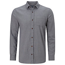 Buy JOHN LEWIS & Co. Long Sleeve Mouline Shirt, Blue Online at johnlewis.com