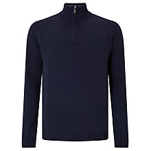 Buy John Lewis Made in Italy Merino Cashmere Zip Neck Jumper Online at johnlewis.com