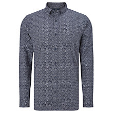 Buy John Lewis Feather Print Shirt, Indigo Online at johnlewis.com