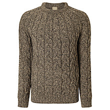 Buy JOHN LEWIS & Co. Made in England Cable Saddle Knit Merino Jumper, Grey Online at johnlewis.com