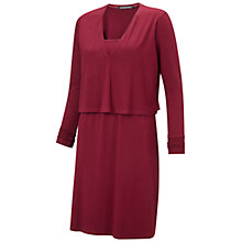 Buy Isabella Oliver Webber Maternity Nursing Dress, Claret Online at johnlewis.com