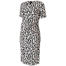 Buy Isabella Oliver Ida Ruched Maternity Dress, Black/White Online at johnlewis.com