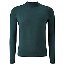 Buy John Smedley Harcourt Turtle Neck Jumper, Racing Green Online at johnlewis.com