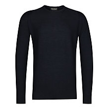 Buy John Smedley Singular Merino Long Sleeve Pullover, Midnight Online at johnlewis.com