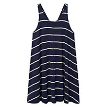 Buy Mango Flowy Dress, Navy Online at johnlewis.com