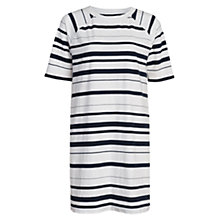 Buy French Connection Joshua Stripe Dress, White/Utility Blue Online at johnlewis.com