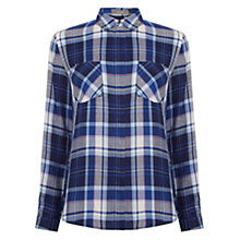Buy Oasis Long Sleeve Check Shirt, Multi Online at johnlewis.com