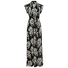 Buy French Connection Shadow Grid Maxi Dress, Shadow Bloom Online at johnlewis.com