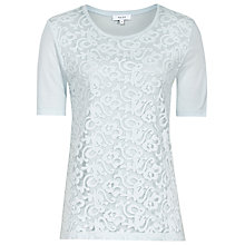 Buy Reiss Yoko Lace Front T-Shirt Online at johnlewis.com